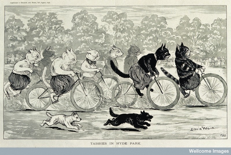 Tabbies in Hyde Park, Louis Wain